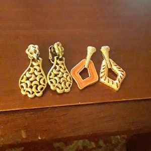 2 pairs of Trifari clip on earrings